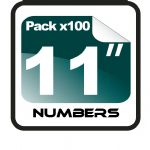 "11"" Race Numbers - 100 pack"